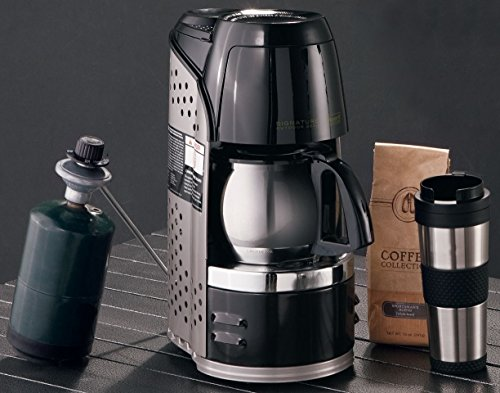 076501231755 - Coleman Quikpot Portable Coffee Maker Instastart - Stainless Steel Carafe - Propane - w/ Carrying Case carousel main 1