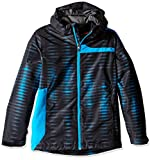 Spyder Boys Reckon 321 Jacket, Small, Space/Electric Blue Print/Polar