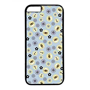 iCustomonline Abstract Circle Flower Pattern Personalized Plastic Case for iPhone 6 Plus Black