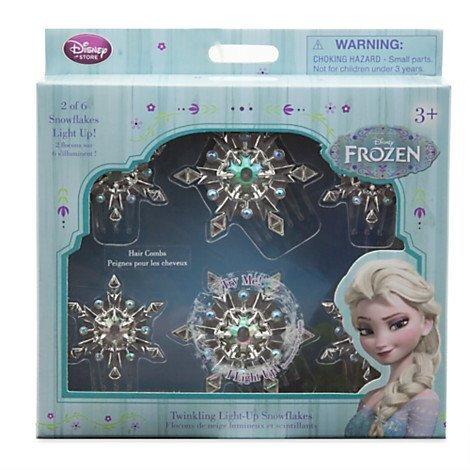 Disney Frozen Elsa Twinkling Light-Up Snowflakes Hair Comb Set