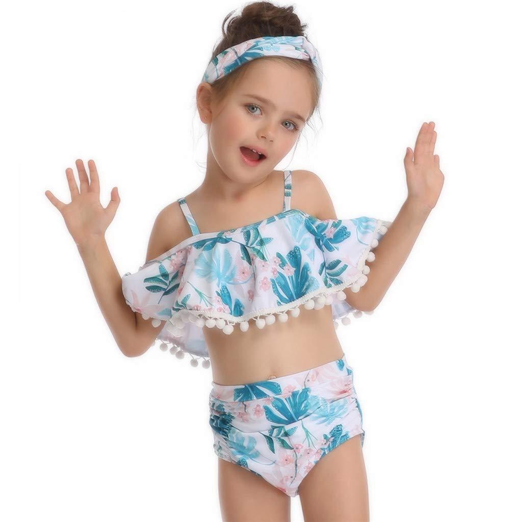 1b1adb3bfcc0 Girls Swimsuit Two Pieces Bikini Set Ruffle Swimwear Bathing Suits Family  Matching Mommy and Me Swimsuit at Amazon Women's Clothing store: