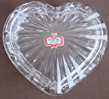 Kristal 24% PbO Lead Crystal Heart Shape Dish w Lid for Trinkets -Jewelry -Candy (Made in Yugoslavia)