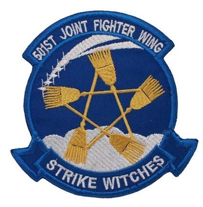 501st Joint Fighter Wing Strike Witches Military Patch Fabric Embroidered Badges Patch Tactical Stickers for Clothes with Hook & Loop