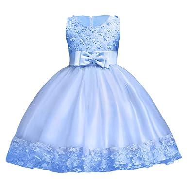 Kinder Baby Mädchen Pailletten Tutu Kleid Prinzessin Partykleid Festkleid Ball