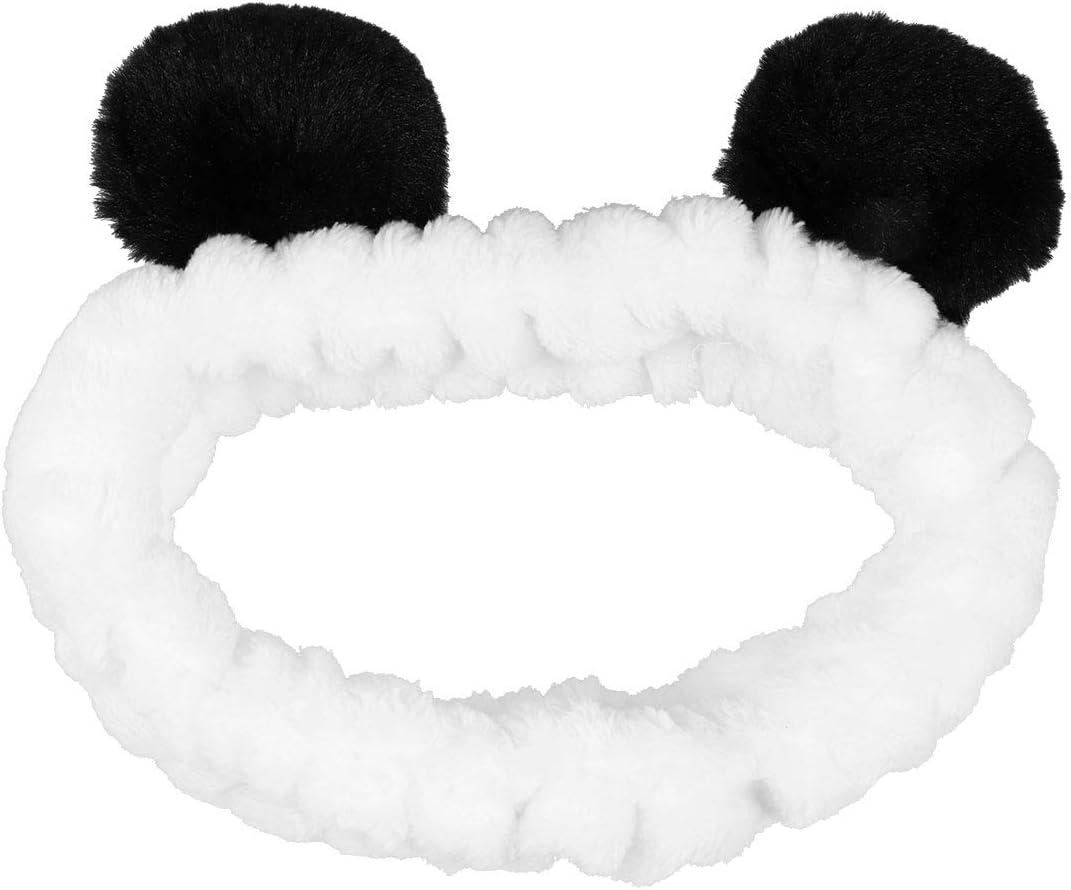 Spa Joli Bandeau Elastique pour le Maquillage /À la Mode Lavage du Visage Pretty Comy Bandeau de Panda pour Femmes Cosplay F/ête Coiffant pour la Douche Masque pour le Visage