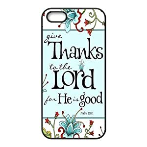 iphone 4s Protective Case - Bible Verse Psalm 118:1 Hardshell Carrying Case Cover for iPhone 4s