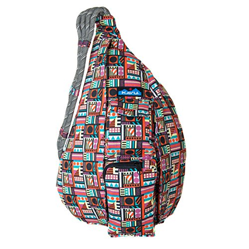 KAVU Rope Bag Shoulder Sling Cotton Crossbody Backpack - Geometry from KAVU