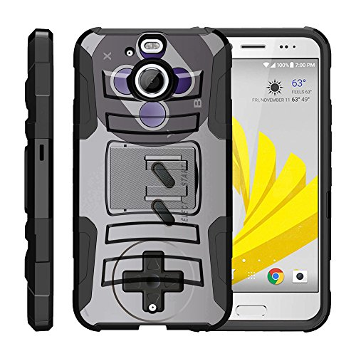 TurtleArmor | HTC Bolt Case | HTC 10 Evo Case [Hyper Shock] Hybrid Dual Layer Armor Holster Belt Clip Case Kickstand - Classic Game Controller (Case Lte Girls Htc 4g Evo For)