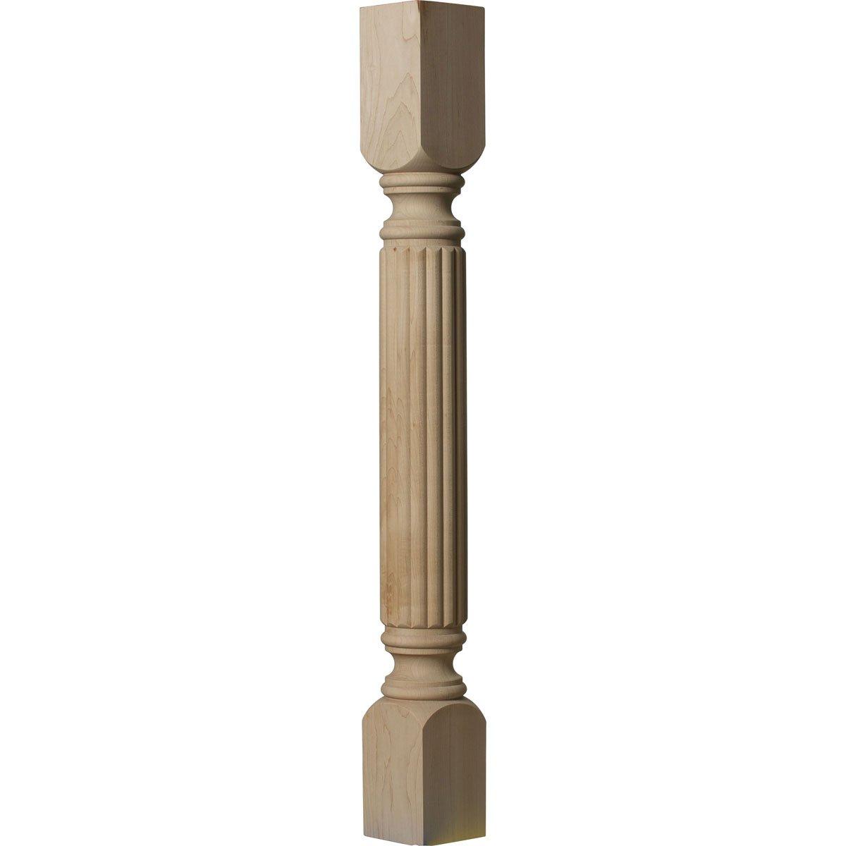 Alder Ekena Millwork COL03X03X35RAAL 3 3//4-Inch W x 3 3//4-Inch D x 35 1//2-Inch H Raymond Reeded Cabinet Column