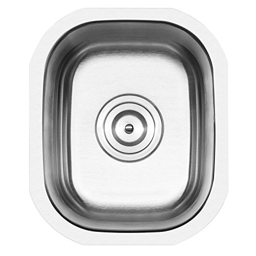 Ticor 12-3/4'' Undermount Stainless Steel 16 Gauge Single Bowl Kitchen Bar Sink (304 Grade) NEW by Ticor
