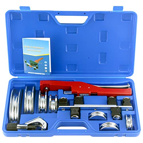IBOSAD HVAC Refrigeration Manual Copper Tube Bender & Pipe Cutter Copper Tubing Bender Set with Aluminum Former Bending 1/4″, 5/16″, 3/8″, 1/2″, 5/8″, 3/4″, 7/8″