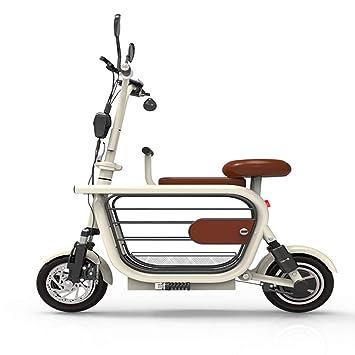 MOIMK Bicicleta Eléctrica Mini Plegable De Dos Ruedas para Scooter Masculino Y Femenino para Adultos 100KM