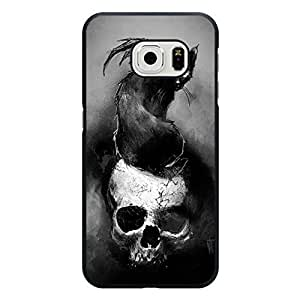 Samsung Galaxy S6 Edge Shell,Cool Popular Skull Background Print Mobile Phone Case for Samsung Galaxy S6 Edge