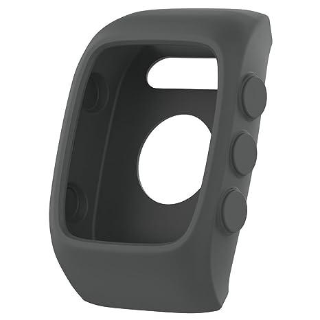 Househome Smart Watch Protect Case - Carcasa universal de silicona suave para Polar M400 M430, color gris