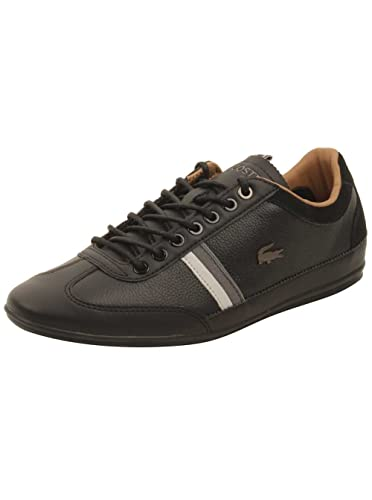 6a72818cc5066 Lacoste Men s Misano 118 1 U Black Dark Grey 7 M US