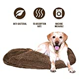 My Doggy Place - Ultra Absorbent, Soft Comfort, Microfiber Chenille Dog Bed Cushion Mat, Durable, Quick Drying, Washable, (Brown 42'' inches)