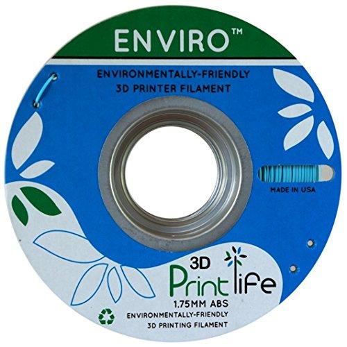 3D Printlife Enviro ABS 1.75mm Blue Sky Imprimante 3D Filament, Précision Dimensionnelle <+/- 0,05 mm