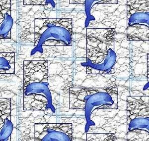 Unbekannt Bodenbelag Aquamatte Weichschaum Badematte Matte Delfin