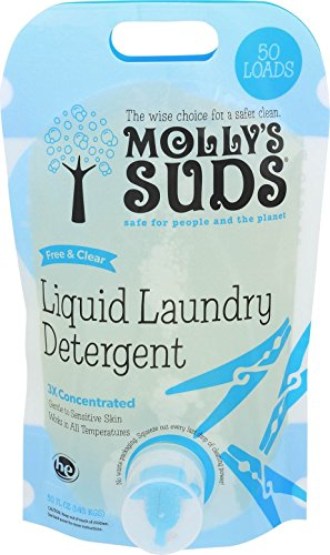 Molly's Suds Natural Free & Clear Hypoallergenic Liquid Laundry Detergent, Unscented - 50 - Laundry Detergent Mollys