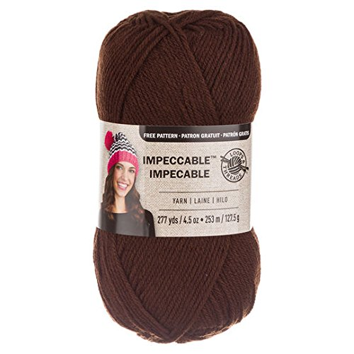 Loops & Threads Impeccable Yarn 4.5 oz. One Ball - Chocolate Brown