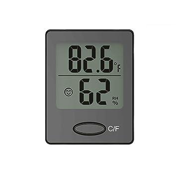 Baldr mini pantalla digital termómetro higrómetro Interior de escritorio Sonreír Instrucciones de cara Confort , black
