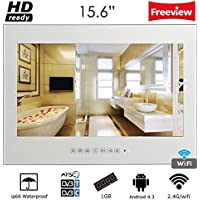 Soulaca 15.6 Smart Android 4.2 Bathroom Wi-Fi TV Magic Mirror Waterproof LED TV for Hotel Kitchen(Mirror)