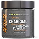 InVitamin Natural Whitening Activated Charcoal Powder for Teeth and Gums (Cinnamint)