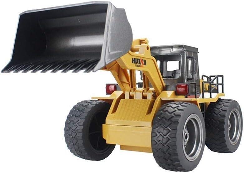 6CH 4WD de control remoto de camiones 2.4G controlada pala cargadora RC camiones de juguete muchachos de las niñas de ingeniería niveladora Vehículos aleación Juguetes Modelo Excavadora Kids' Mejor re