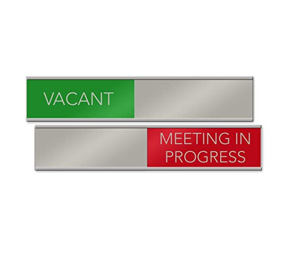 Amazon.com: Señal de Vacant/Meeting in Progress deslizante ...