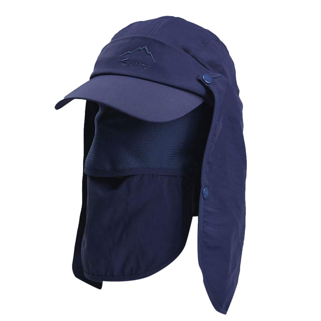 Tantisy /♣↭/♣ Fully Enclosed Sun Protection Hats ☘ Unisex Flap Hats Sunscreen Cap Removable Summer Outdoor Fishing Hat