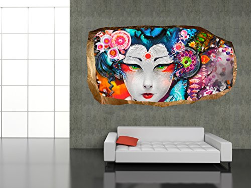 Japanese Girl Amazing Dual View Surprise Large Wall Mural