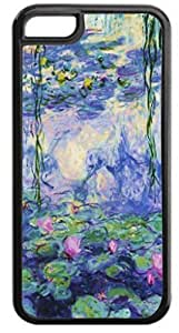 Claude Monet's Nympheas-2- Case for the APPLE IPHONE 4, 6 plus 5.5-Hard Black Plastic Outer Case with Tough Black Rubber Lining