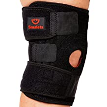 Smalets Best Knee Brace Support For Arthritis, ACL, LCL, MCL -Side Stabilizers Open Patella- Protects Against Further Knee Damage- One Size Adjustable