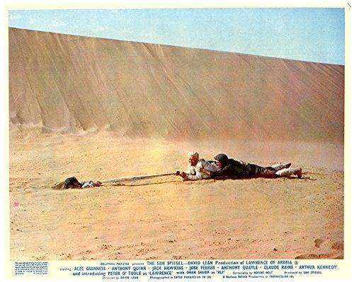 Lawrence of Arabia original lobby card Peter O'Toole on desert (Desert Floor)