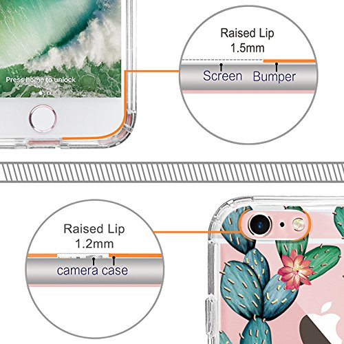 iPhone 6s Case, iPhone 6 Cover, MOSNOVO Tropical Cactus Clear Design Printed Transparent Plastic Hard Case with Soft TPU Bumper Protective Back Phone Case Cover for Apple iPhone 6 6s (4.7 Inch) Photo #7