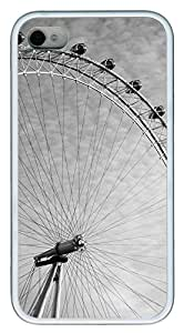 iPhone 4 4s Case, iPhone 4 4s Cases - Ferris wheel TPU Polycarbonate Hard Case Back Cover for iPhone 4 4s¨C White