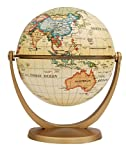 Stella Nova Political Antique Ocean Swivel and Tilt Globe, 4-Inch