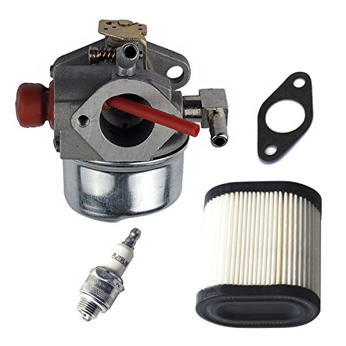 Podoy 640350 Carburetor for tecumseh LV195EA LEV120 with 36905 Air Filter Spark Plug & Gasket LEV100 LEV105 640303 640271 Carb