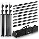 Neewer 20ft/6m Wide,8.8ft/2.7m High Backdrop Support System Stand with Detactable Crossbar with Carrying Case for Photography Video Studio Shooting