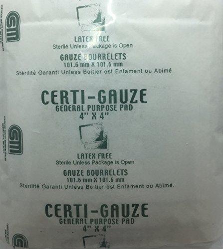 "Gauze Pads - 4"" x 4"" - Certi-Gauze- Certified (231-207) 100/bag by Certified Safety (Image #1)"
