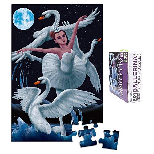 Floor Puzzles for Kids - 48-Piece Giant Floor Puzzle, Ballerina Ballet Swan Dancer Jumbo Jigsaw Puzzles for Toddlers Preschool, Toy Puzzles for Kids Ages 3-5, 2 x 3 Feet
