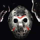 H&H Mascara de Jason Plateada. Halloween Party Cool Thicken Jason Mask (Silver)