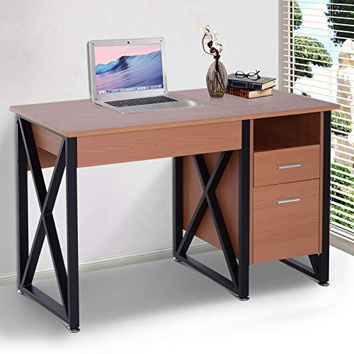 Price comparison product image Versatile Computer Desk Elevate Top Workstation Table with 2 Drawers Home Office Furniture