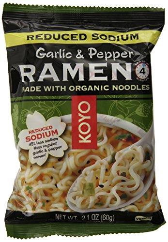 KOYO Reduced Sodium Garlic and Pepper Ramen Made with Organic Noodles, 2.1 Ounce (Pack of 12) by Koyo (Image #5)