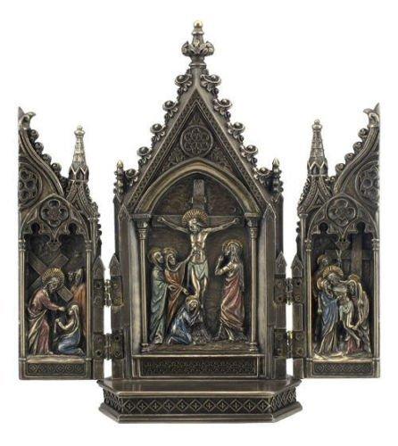Calvary Triptych Statue Sculpture Figurine ()