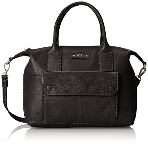 Fossil Blake Satchel, Black, One Size