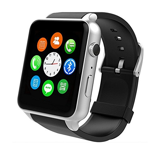ALNES GT88 Waterproof 1.54 inch Touch Screen Wrist Smart Watch IP57 NFC Bluetooth Connectivity Sports Activity with Heart Rate Monitor Magnetic Charging Health Exercise Fitness Tracker (Silver)