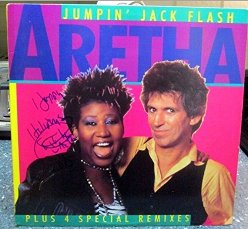 Aretha Franklin signed Jumpin Jack Flash 12