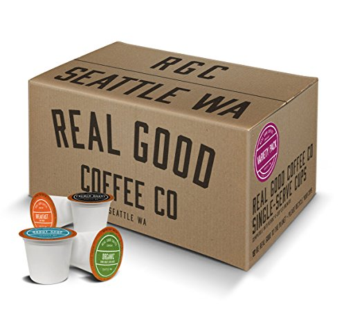 Real Good Coffee Co Recyclable K Cups, Variety Pack, For Keurig K-Cup Brewers, 72 Single Serve Coffee Pods For Sale
