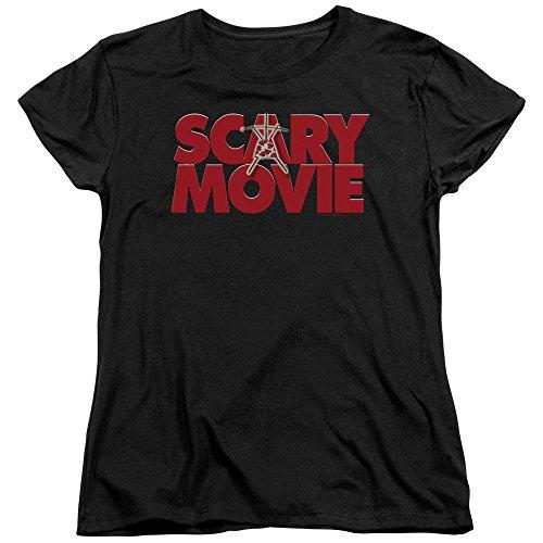 Ladies Scary Movie Logo Shirt, Black, 2XL]()
